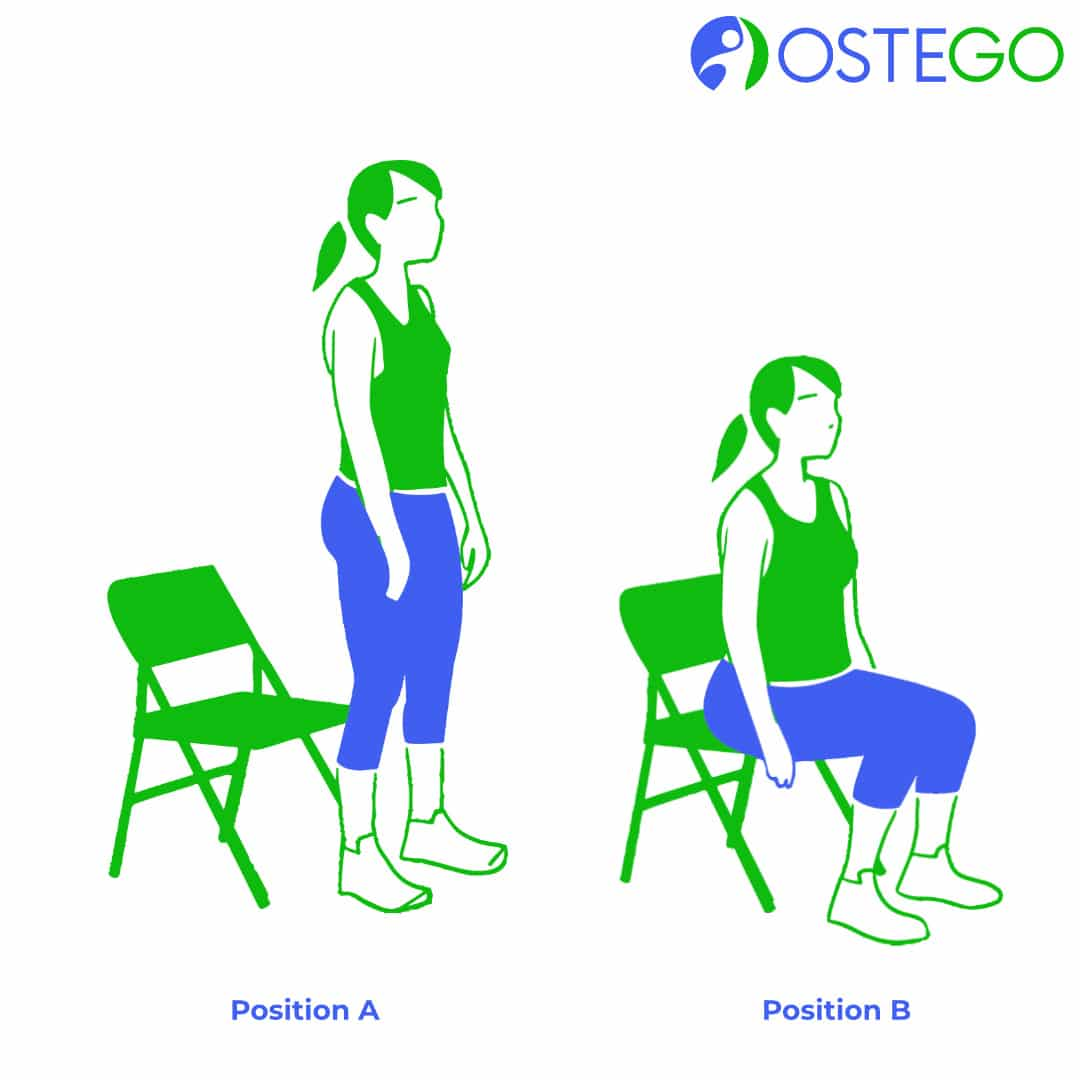 Chair Sit Exercise for Bone Health