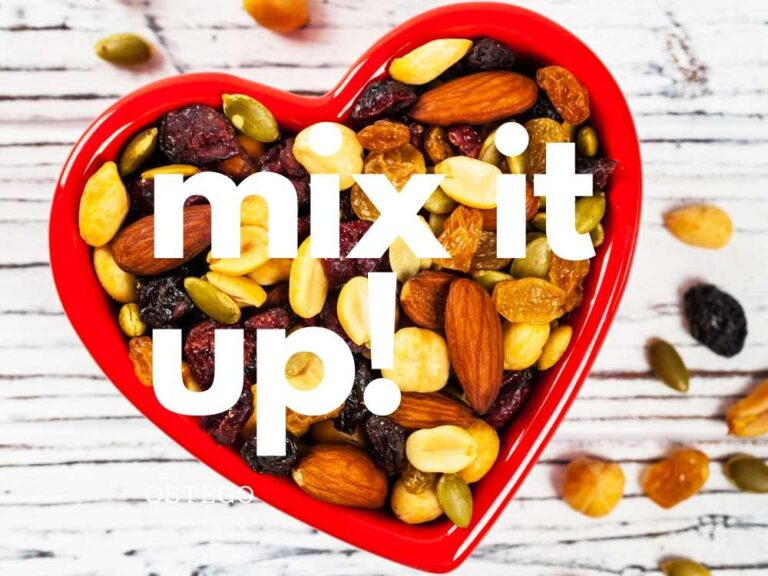 Final product, mixed ingredients for antioxidant snack mix.